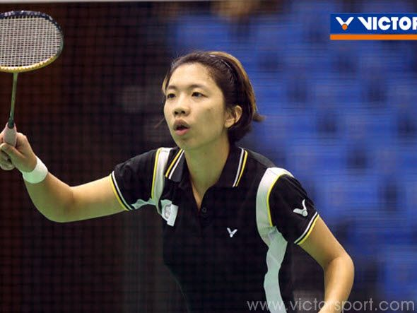 The girl who grew up with VICTOR rackets (1)